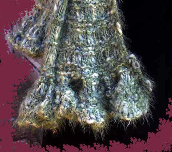 Bordo sciarpa a maglie allunga