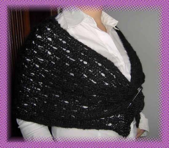 Stola di lana punto bucherella