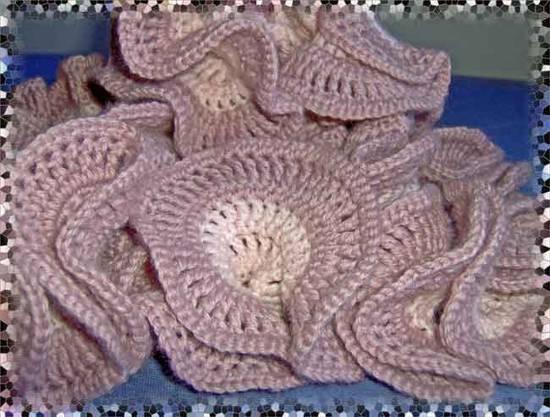 Dettaglio sciarpa a spirale