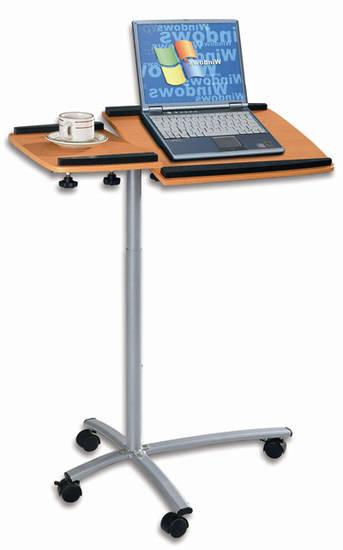 Tavolino con ruote per pc computer notebook ripiano piano - Tavolino per pc ...
