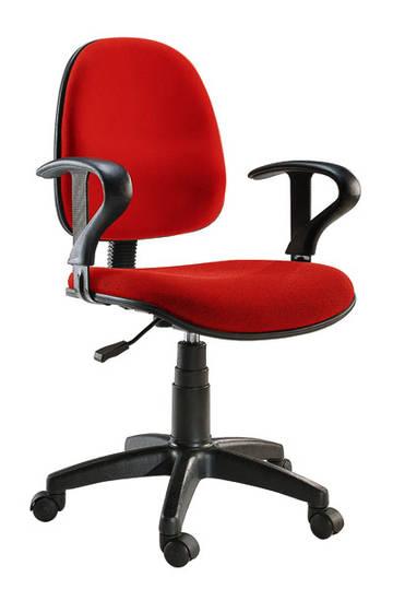 sedia rossa red poltrona pc computer con ruote braccioli