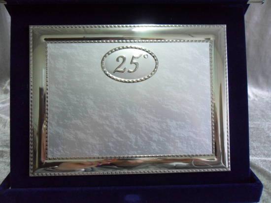 Targa ricordo 25 anniversario di matrimonio nozze d for Anniversario matrimonio 25