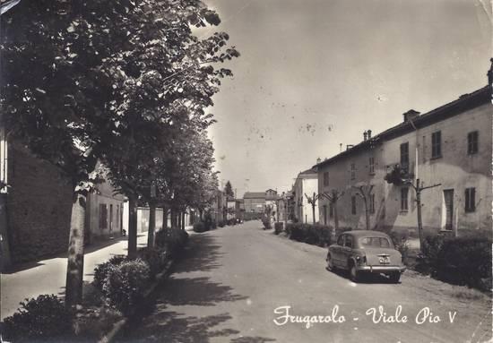 Cartolina Frugarolo Viale Pio V