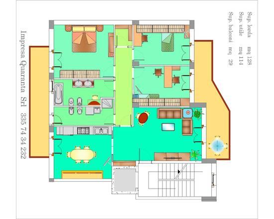 Appartamento da 130 mq su impresa quaranta for Come trovare progetti di una casa