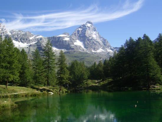 Lago Blu e Cervino.