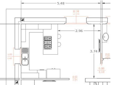 Forum consiglio disposizione cucina - Dimensioni tavoli da cucina ...