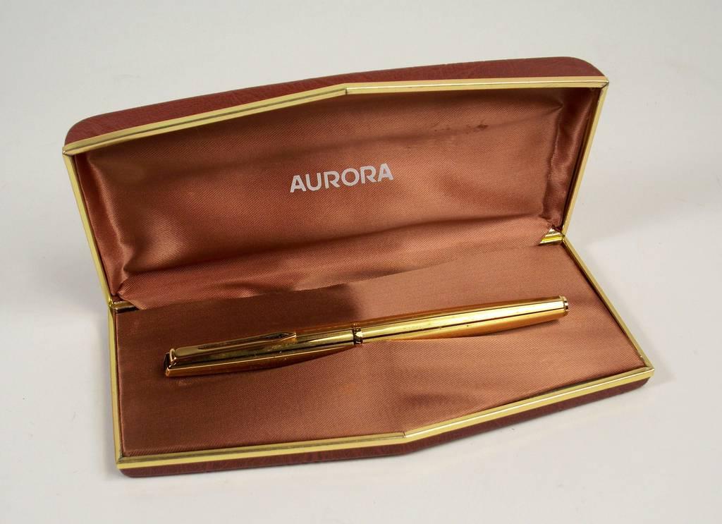 Penna stilografica laminata in oro aurora vintage anni 39 60 - Portamine vintage ...