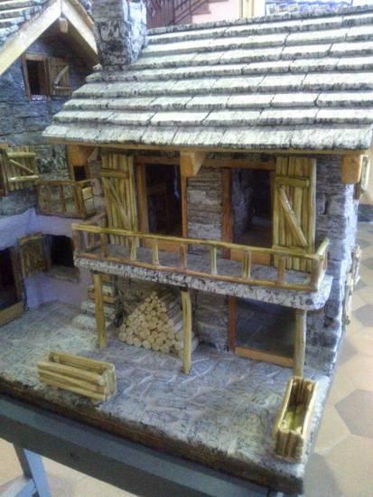 Modello di casa in pietra