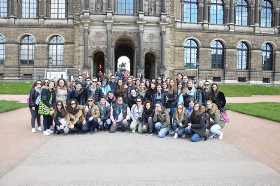 La classe V A Turismo in viaggio ad Auschwitz, Birkenau, Dresda, 25 maggio 2016