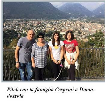 La famiglia Cesprini con Pitch a Domodossola