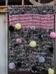pannello lana tessuto pon pon