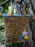 borsa bambù fiore