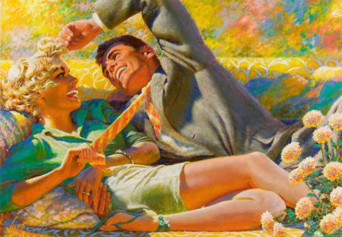 Uomo e donna felici