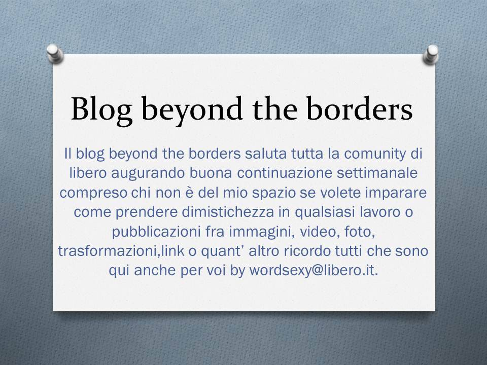 BLOG BEYOND THE BORDERS